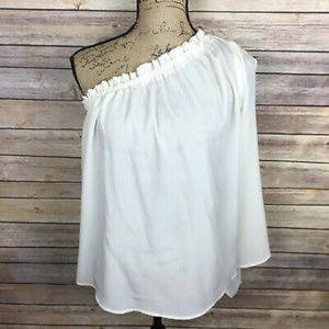 Harlowe & Graham Small Ivory One Shoulder Blouse